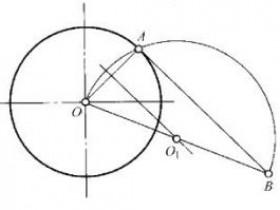 机械制图:直线与圆弧连接的作图步骤