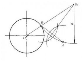 机械制图:圆弧连接的综合作图步骤