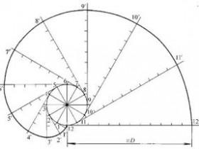 机械制图:渐开线画法作图步骤