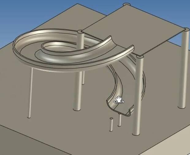 CAXA 3D建模入门实例教程—儿童滑梯